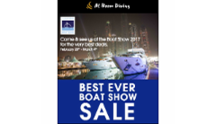 Come & see us at the Boat Show for the very best deals - Al Boom Diving Newsletter
