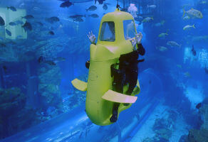 Shark Scooter at Dubai Aquarium and Underwater Zoo for Two